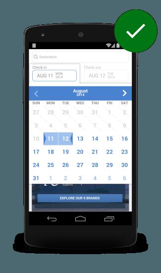Календарь на сайт