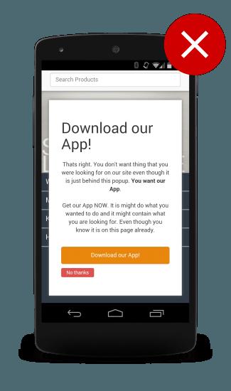 Не правильные промоакции для мобильного сайта